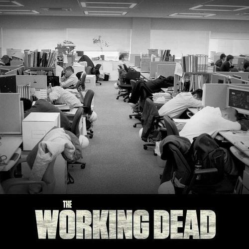 the walking dead working dead at office